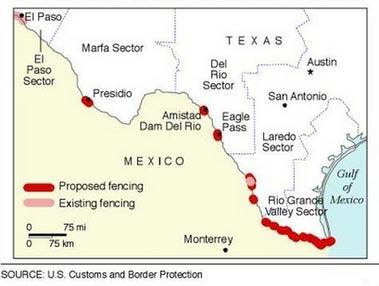 US Fence Will Hurt Life Along Border US News Environment US - Mexico us border wall map